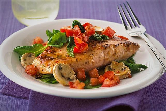 خوراک ماهی و قارچ آسیا غذالند سرزمین غذا