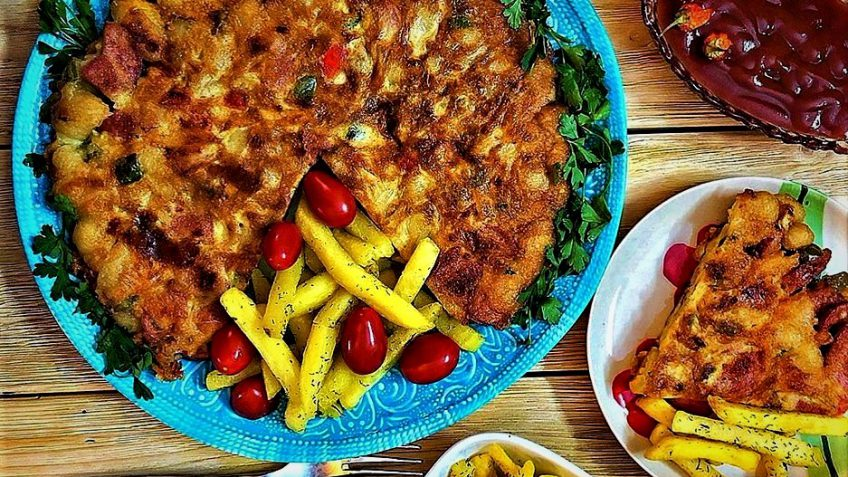 کوکو ماکارونی ایران غذالند سرزمین غذا