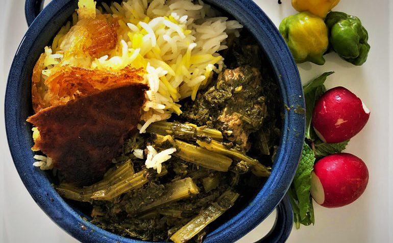 خورش کرفس با گوشت غذالند سرزمین غذا ایران