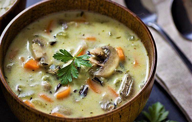 سوپ قارچ و هویج غذالند ایران سرزمین غذا