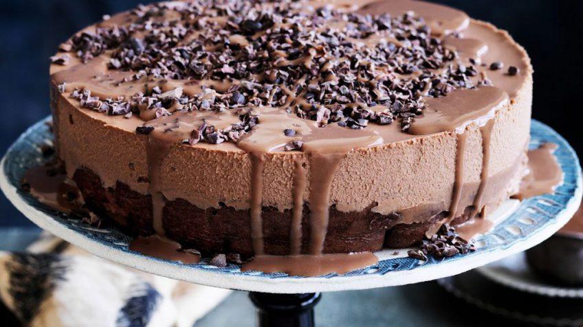 طرز تهیه کیک موس شکلاتی
